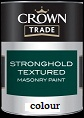 crown trade Stronghold Textured Masonry Paint colour