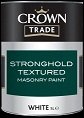 crown trade Stronghold Textured Masonry Paint white