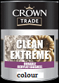 Crown trade Clean  ex/ dur acrylic eggshell colours