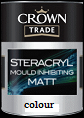 Crown trade Steracryl Moulding Inhibit Matt colours